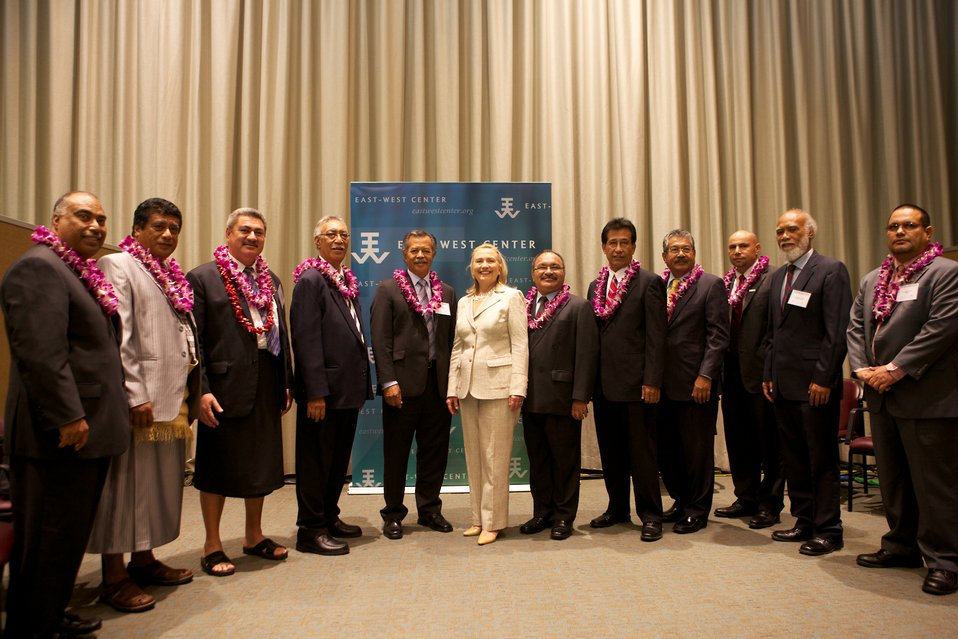Secretary Clinton Meets with Pacific Island Delegates