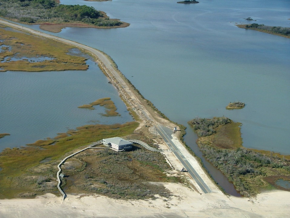 Chincoteague National Wildlife Refuge (VA), beach road damage