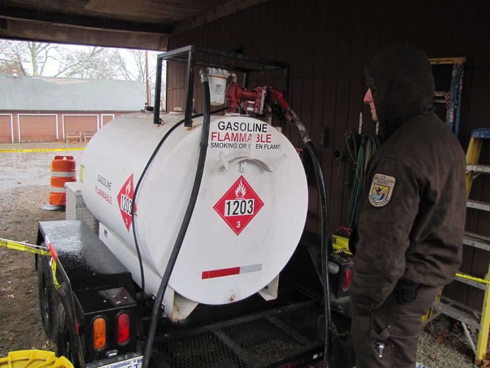 Fuel tank at Long Island National Wildlife Refuge (NY)
