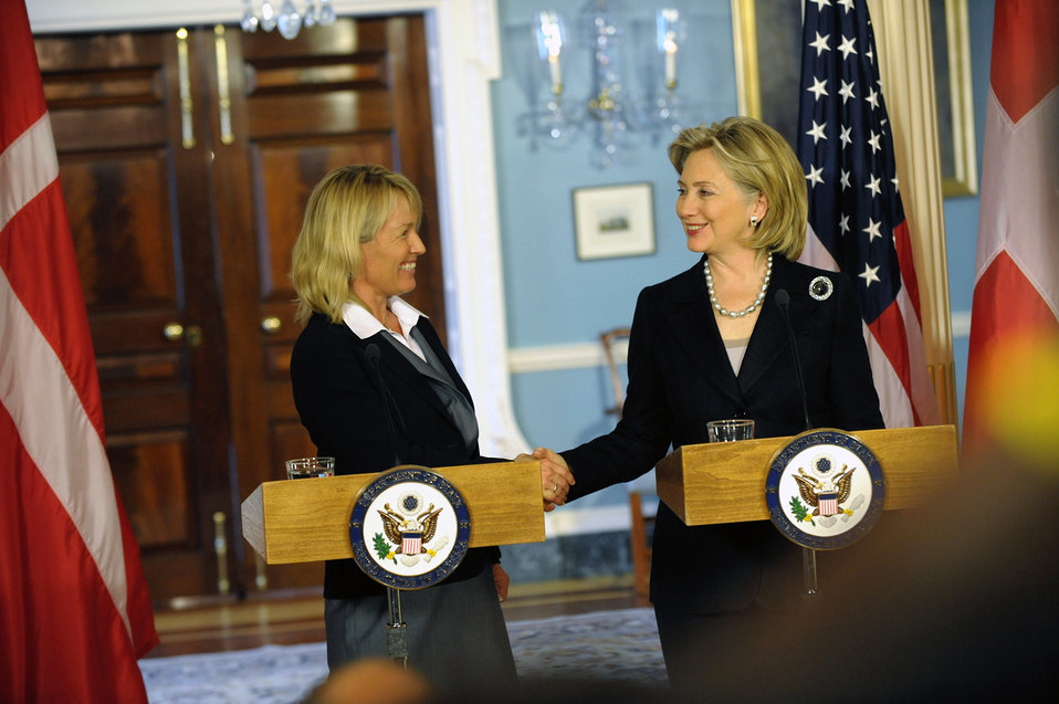Secretary Clinton Holds Bilateral With Danish Foreign Minister Espersen