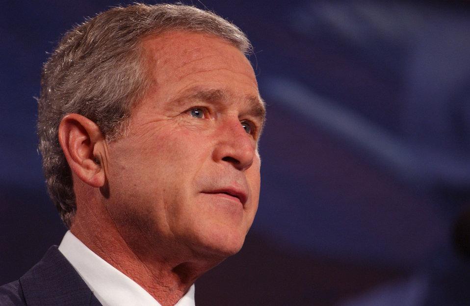 President George W. Bush visit to Oak Ridge National Lab.