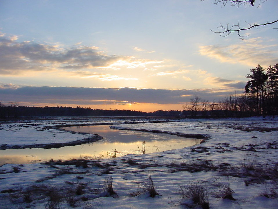 Rachel Carson National Wildlife Refuge Trail at Sunrise