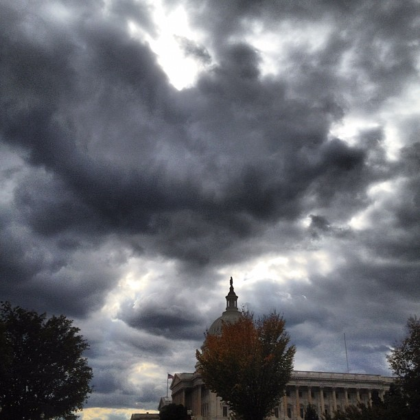 Windy November afternoon at the Capitol.