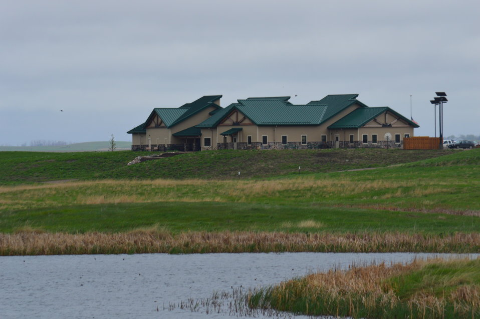 View of the Visitor Center and offices