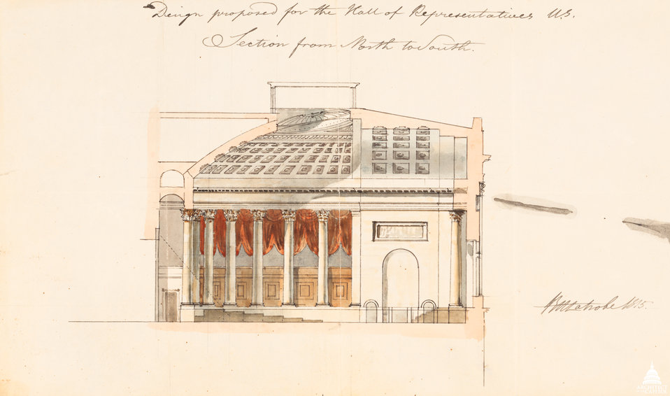 Design proposed for Hall of Representatives - 1815