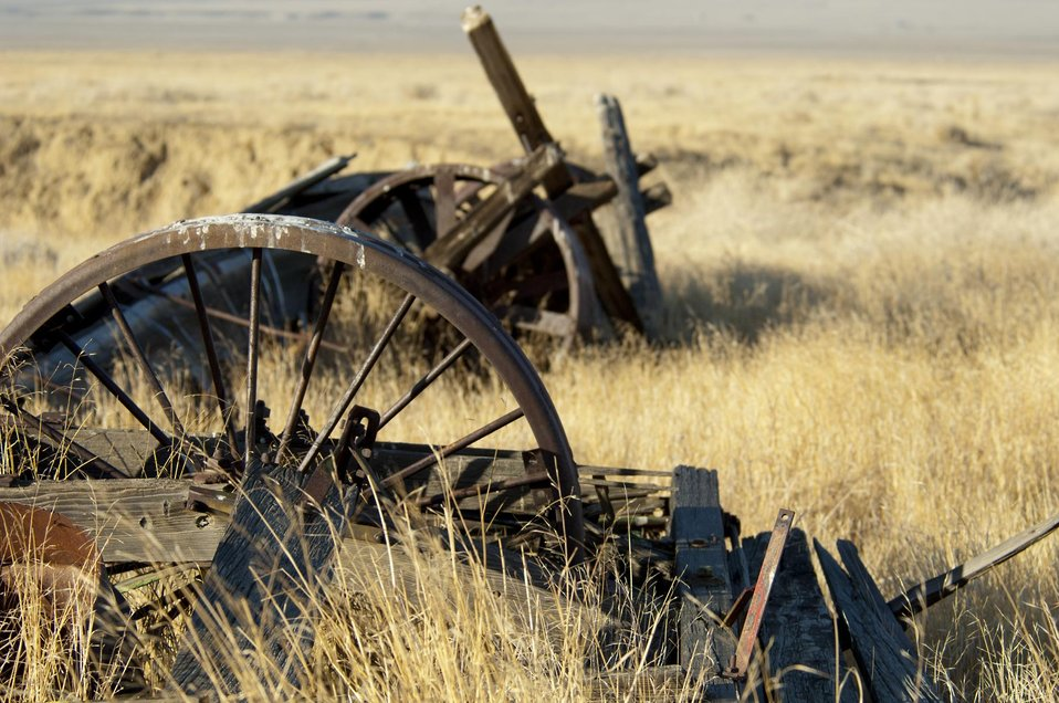 Farming Equipment left on the Carrizo Plain 2