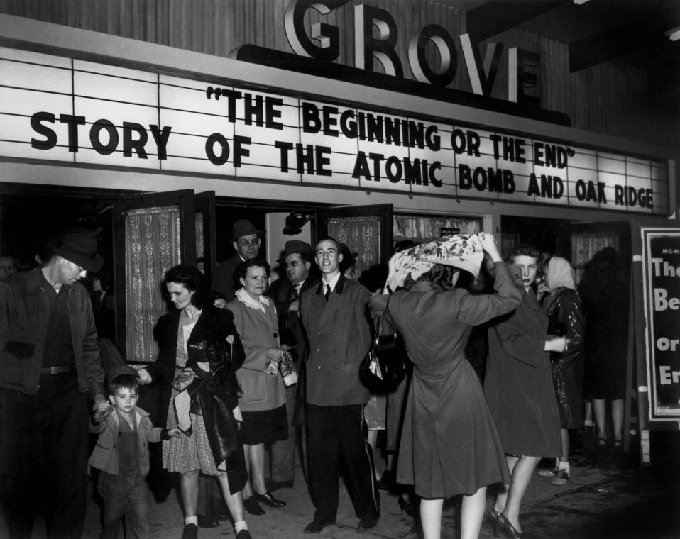 Grove Theater 'Beginning or The End' Movie Oak Ridge