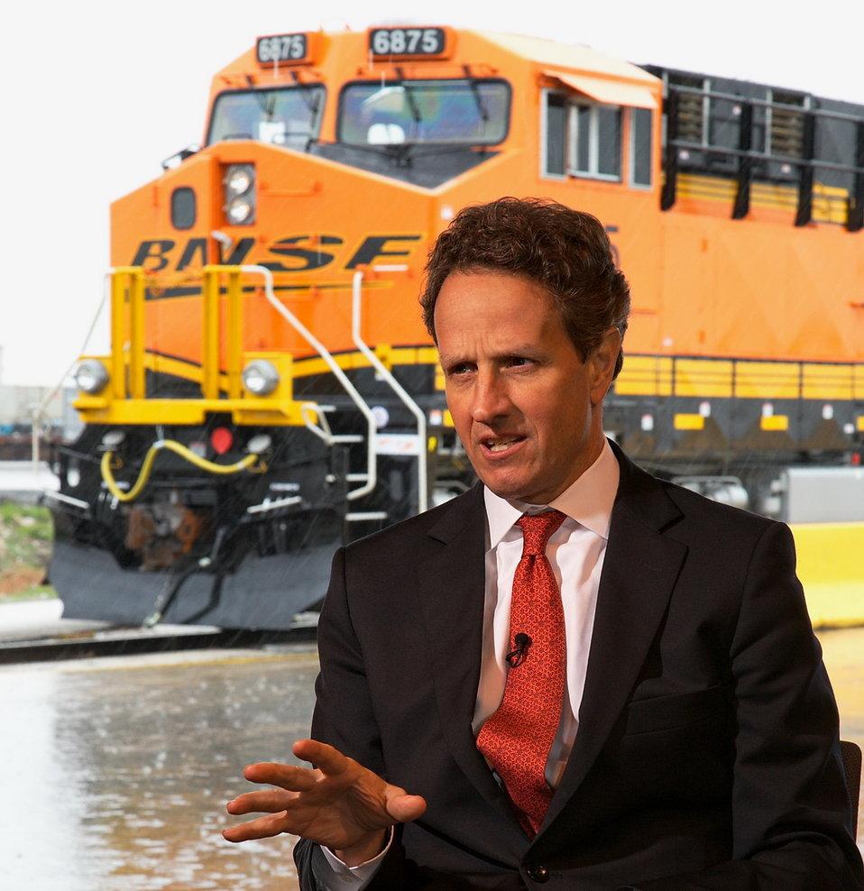 Secretary Geithner Visits BNSF Railway Dallas-Fort Worth, TX
