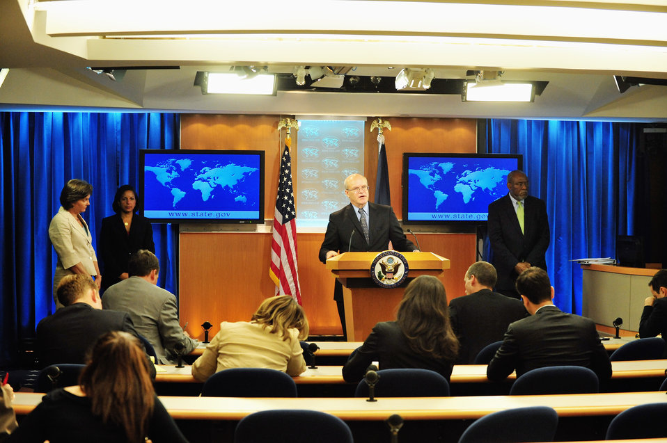 USAID Deputy Administrator Steinberg Addresses Reporters