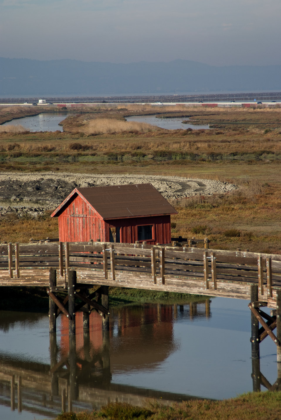 Boat house at Don Edwards San Francisco Bay National Wildlife Refuge