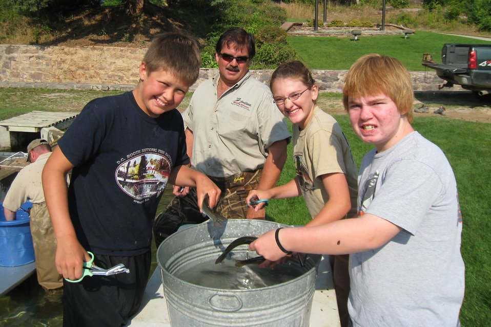 Youth at D.C. Booth Historic National Fish Hatchery