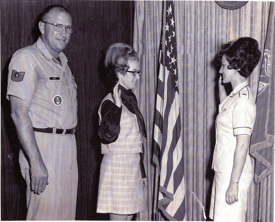 Donna Lakamp USAF induction