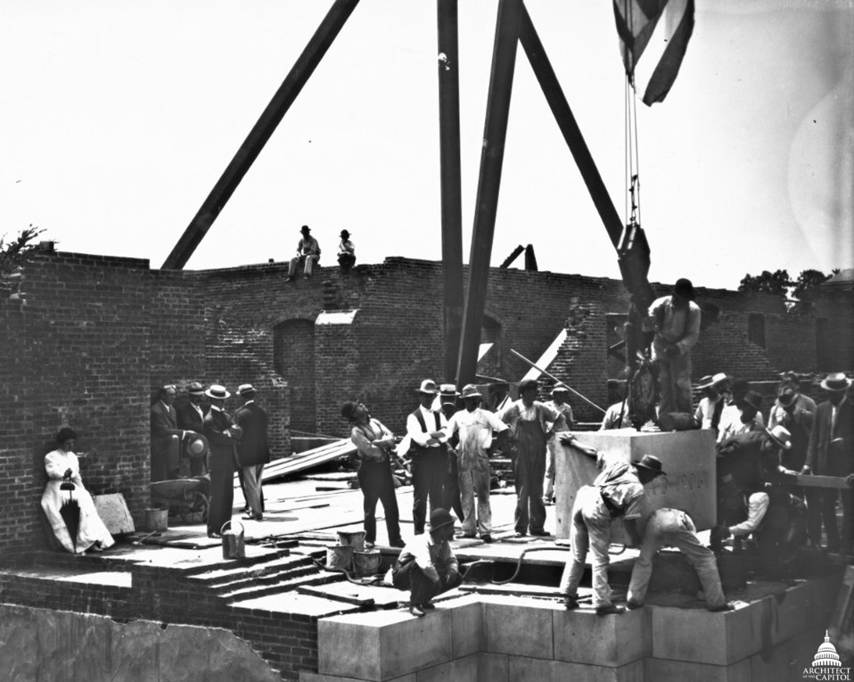 Laying Cornerstone of Russell Senate Office Building