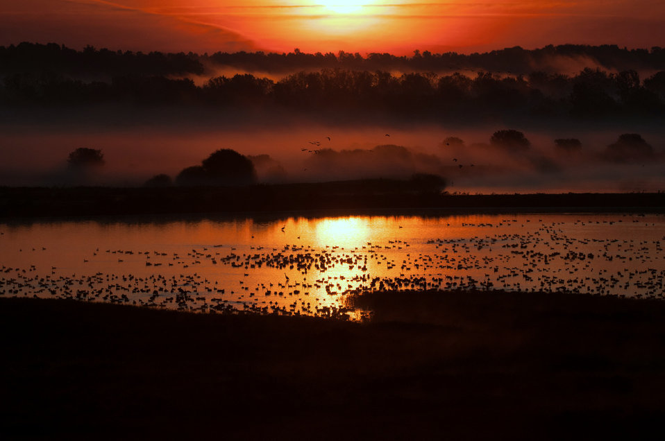 Sunrise over Knox Marsh
