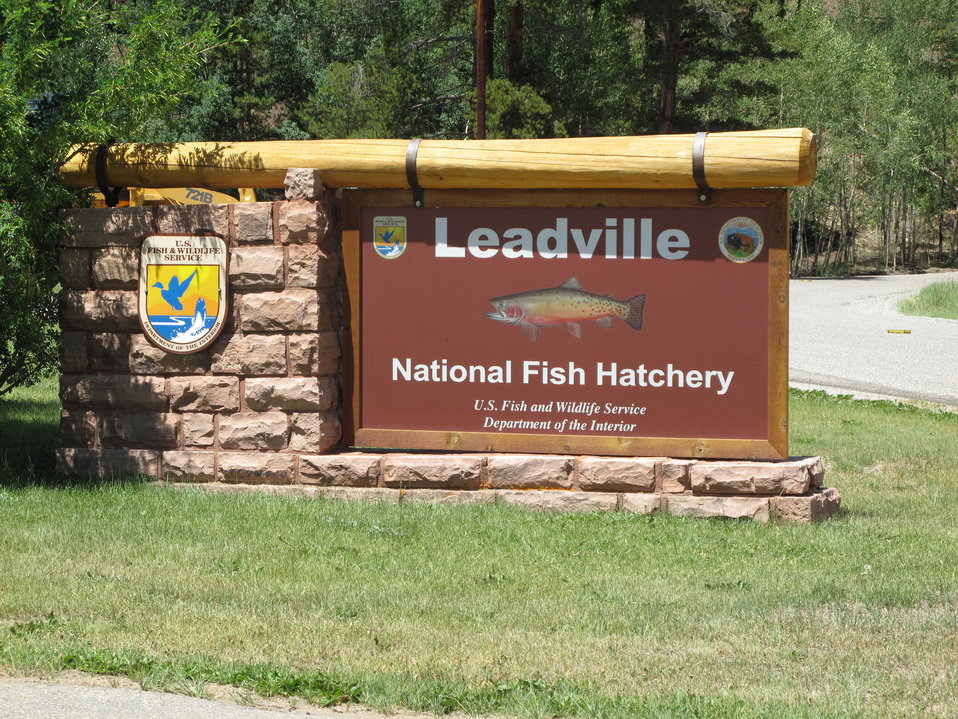 Leadville National Fish Hatchery Entrance Sign