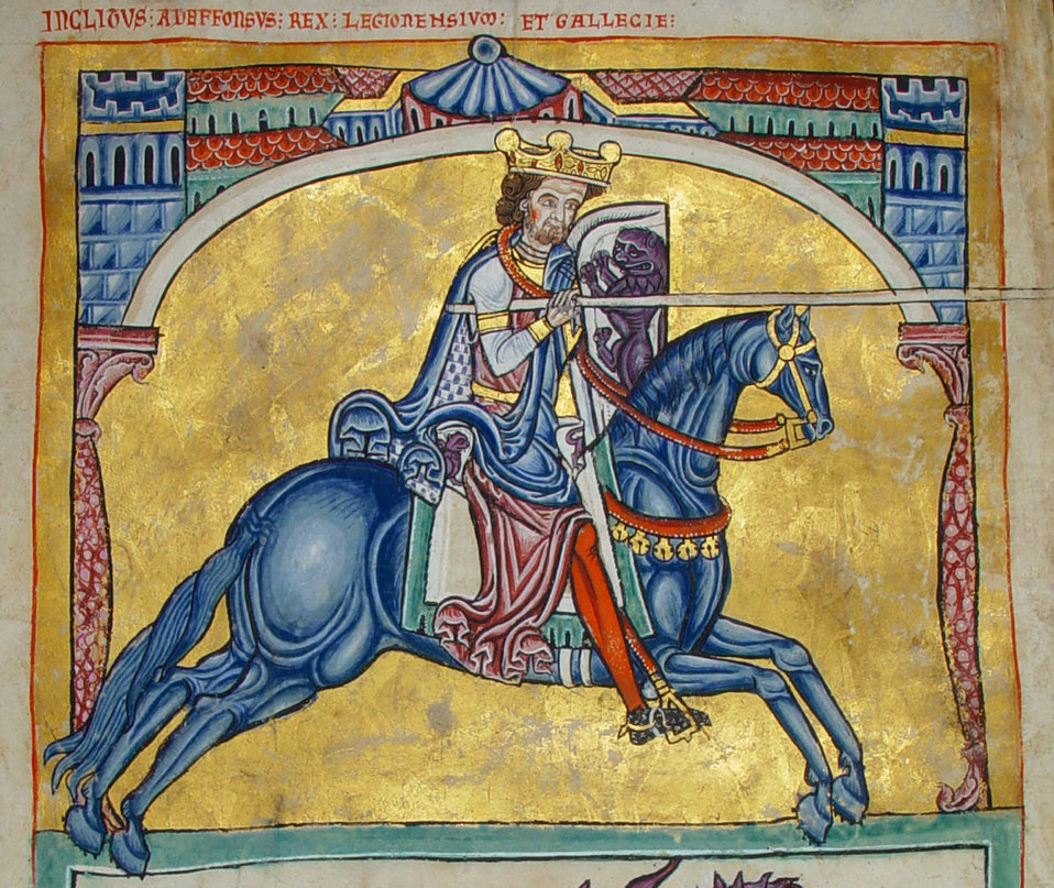 Miniature of the king Afonso VIII of Galicia and Leon