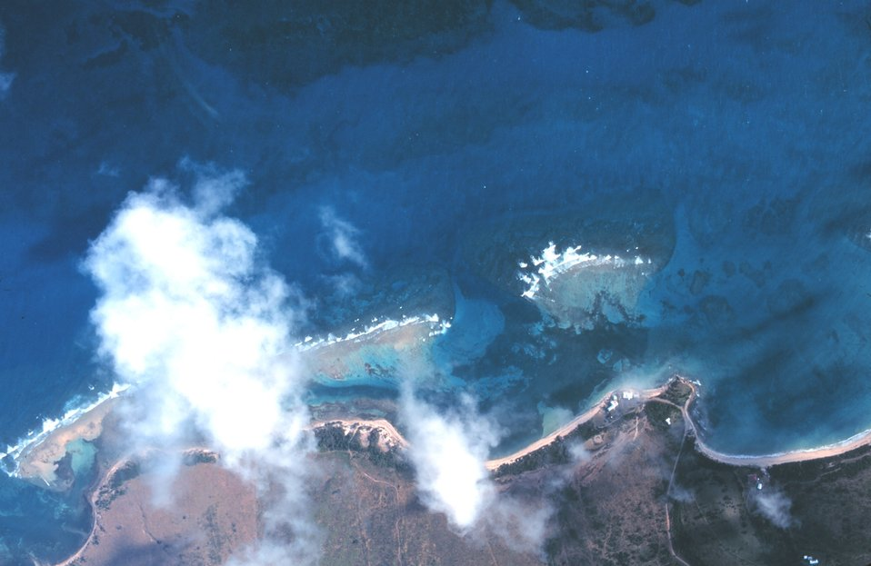 Aerial view of St. Croix coastline