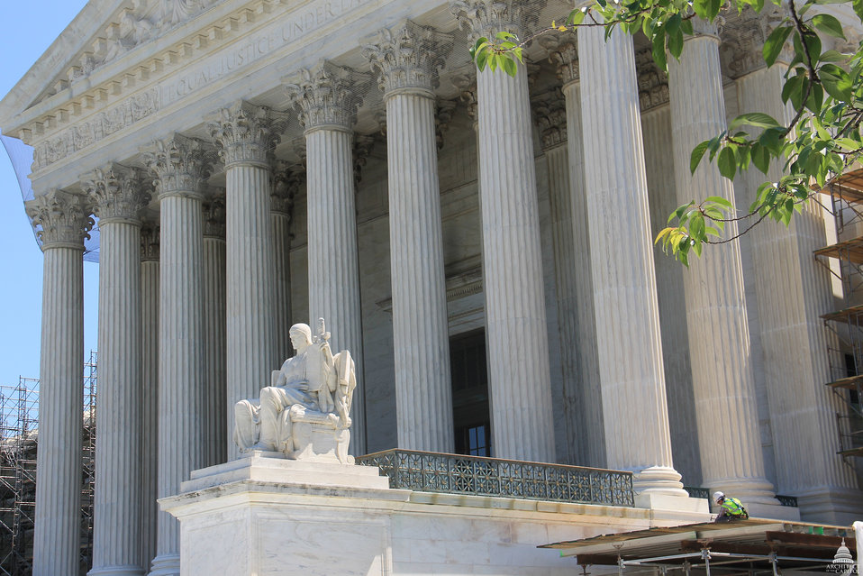 Restoration Work Underway on Supreme Court West Façade