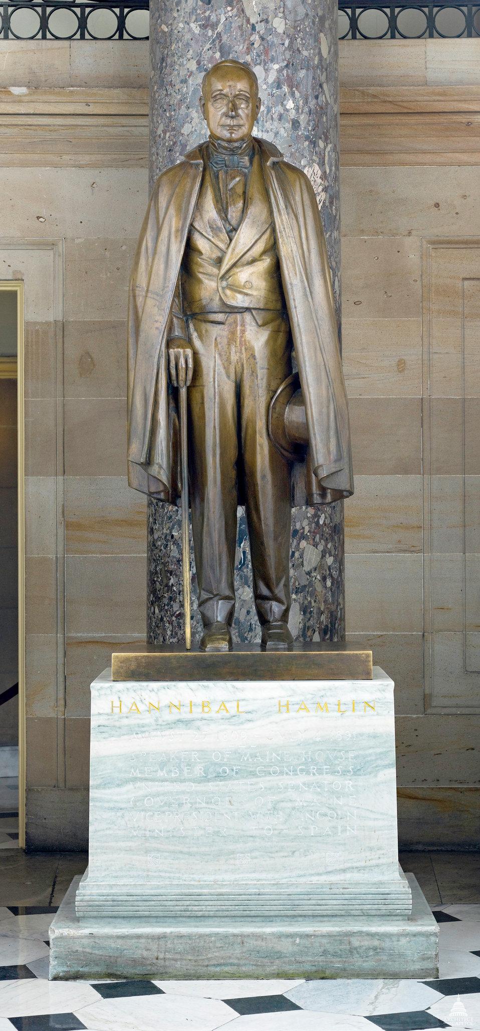Hannibal Hamlin Statue