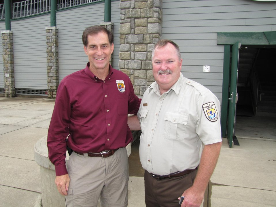 USFWS Director Dan Ashe and Refuge Manager Andy French