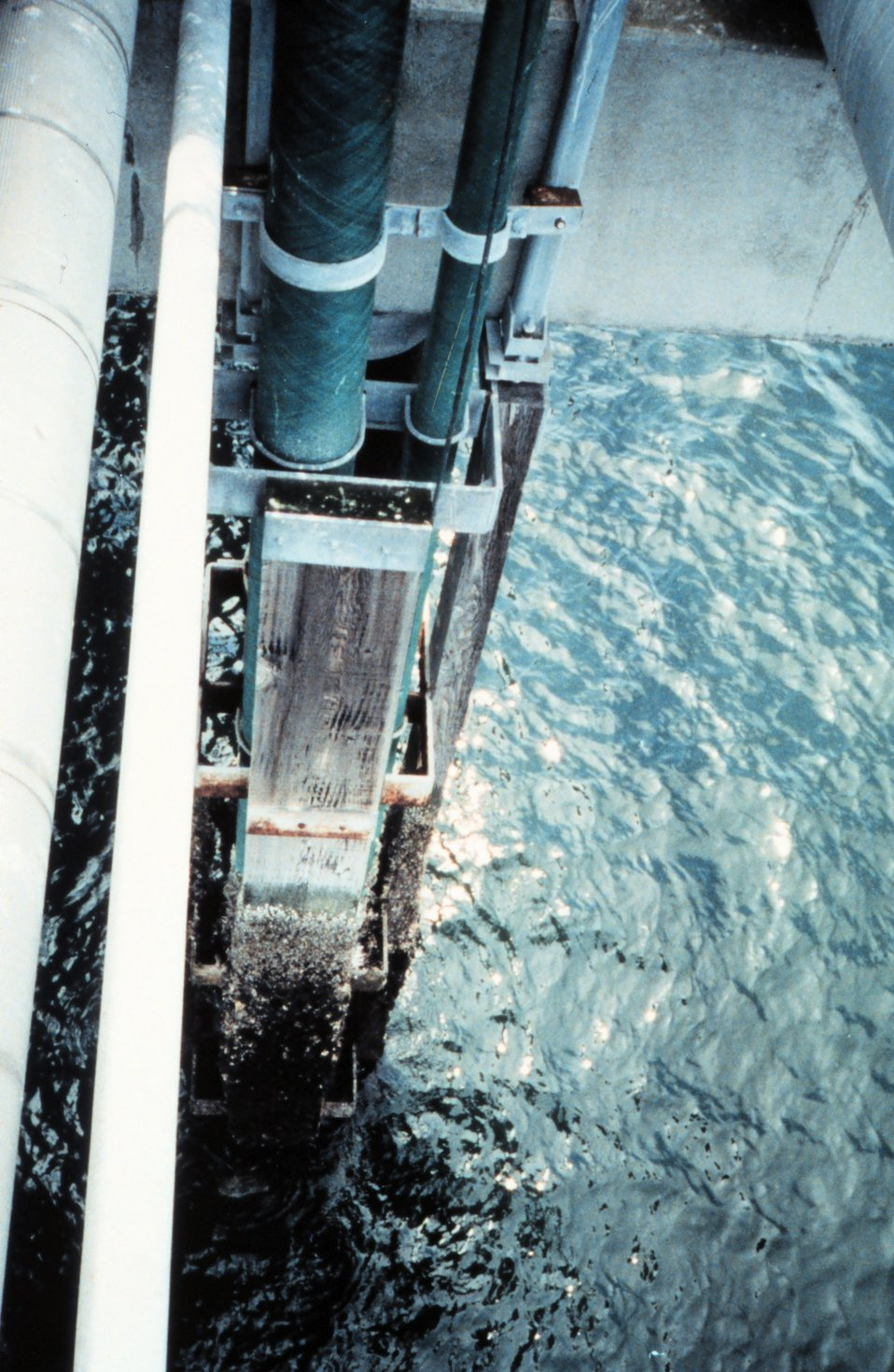 The tide gage installation at Cherry Point