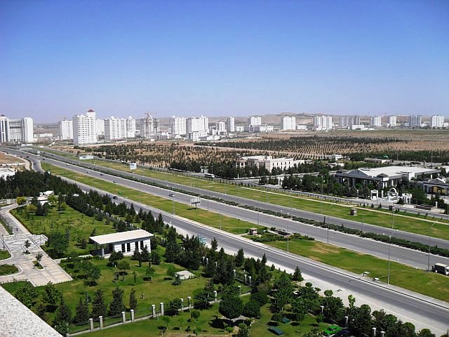 SCA Special Assistant Morgan Takes a Photo of Ashgabat, Turkmenistan