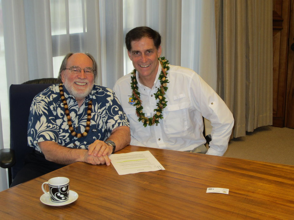 USFWS Director, Dan Ashe with Hawaii Govenor Neil Abercrombie