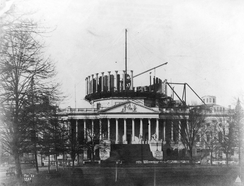 Capitol Dome Construction - 1857