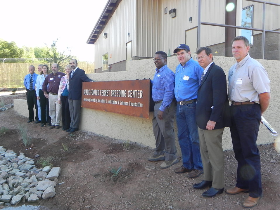 Dedication of Black-footed Ferret Breeding Center