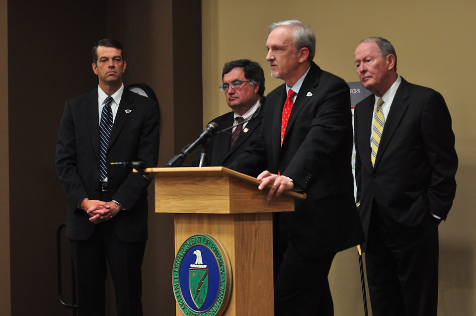 Mercury Cleanup Press Conference Y-12 Oak Ridge Speaking Dave Huizenga EM Senior Advisor
