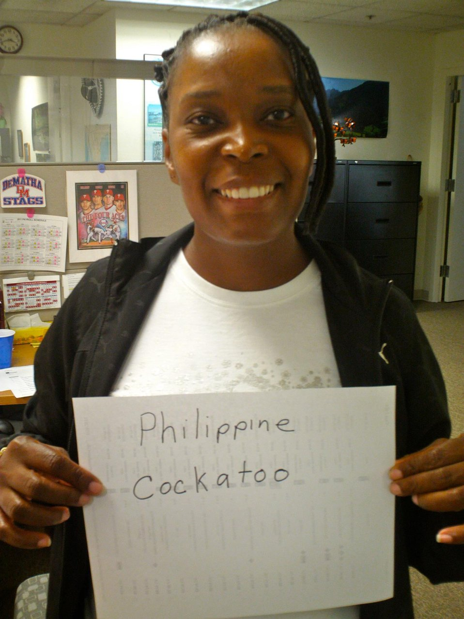 Sonia Williams, 'Philippine Cockatoo,' Credit: USFWS