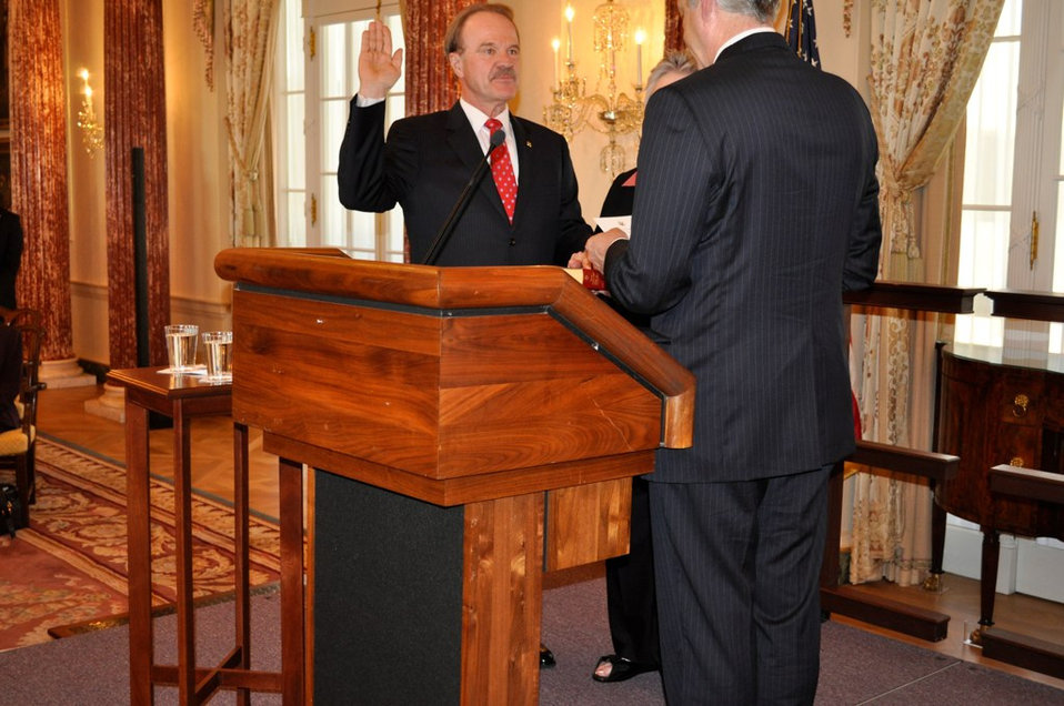 Deputy Secretary Burns Swears In Ambassador Mozena