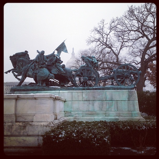 Foggy January Day - Capitol West Front
