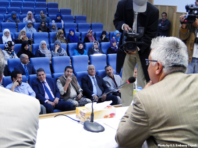 Misurata University Students Ask Ambassador Cretz Questions