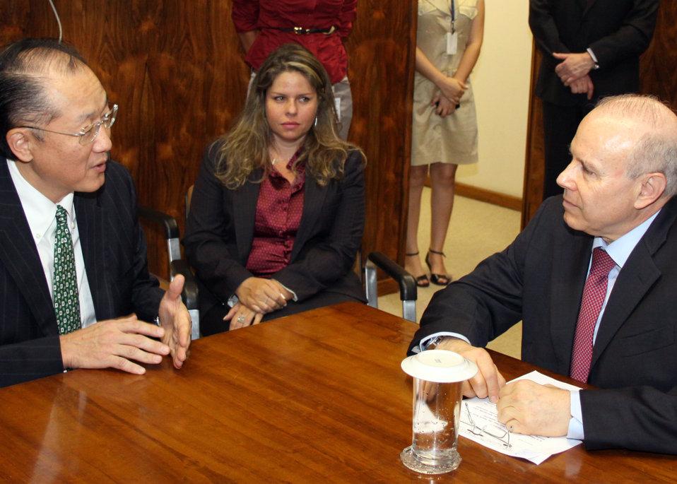 Dr. Jim Yong Kim Meeting with Brazilian Finance Minister Guido Mantega