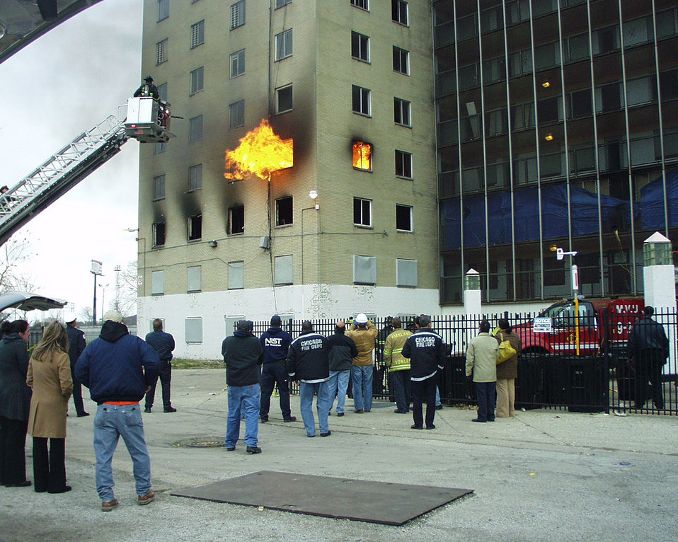 High-rise fires; Positive Pressure Ventilation
