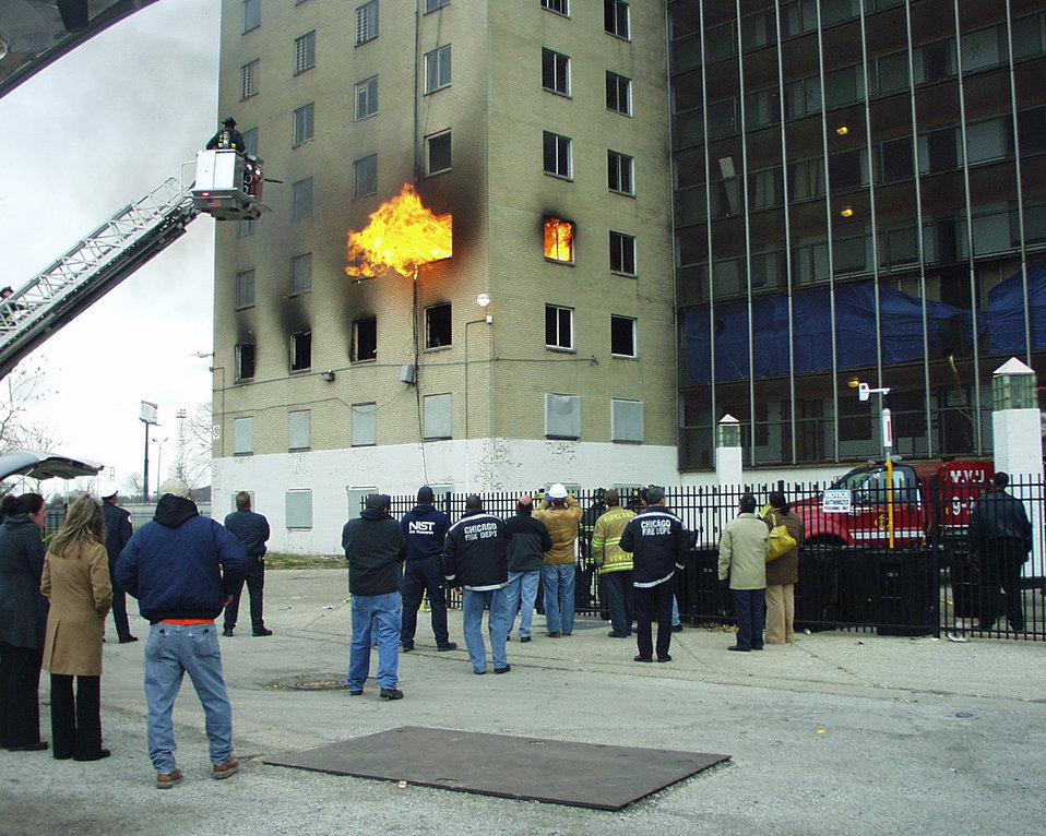 High-rise fires; Positive Pressure Ventilation