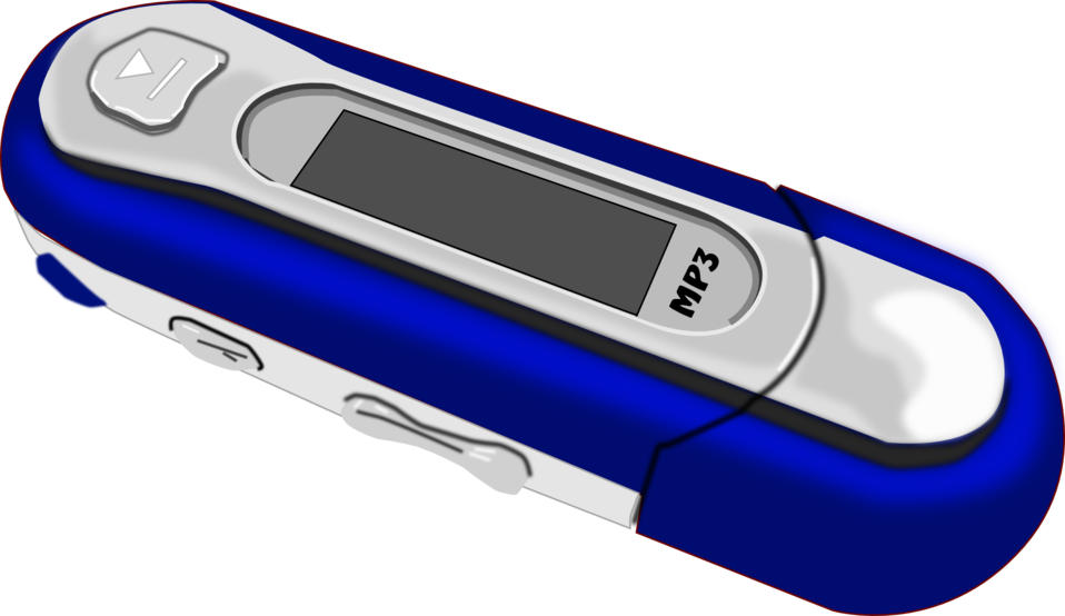 A Blue old style MP3 Player