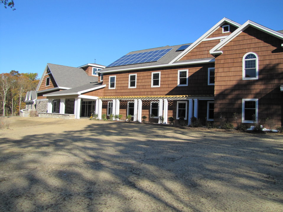 Back of Visitor Center with solar panels