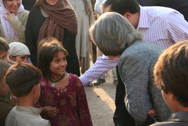 Under Secretary Otero Visits a Refugee Camp