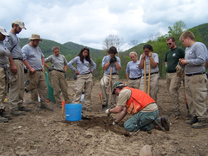 Tree planting at Pennington Gap project