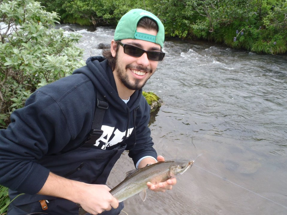 Corey A. Anco with Dolly Varden char, AK