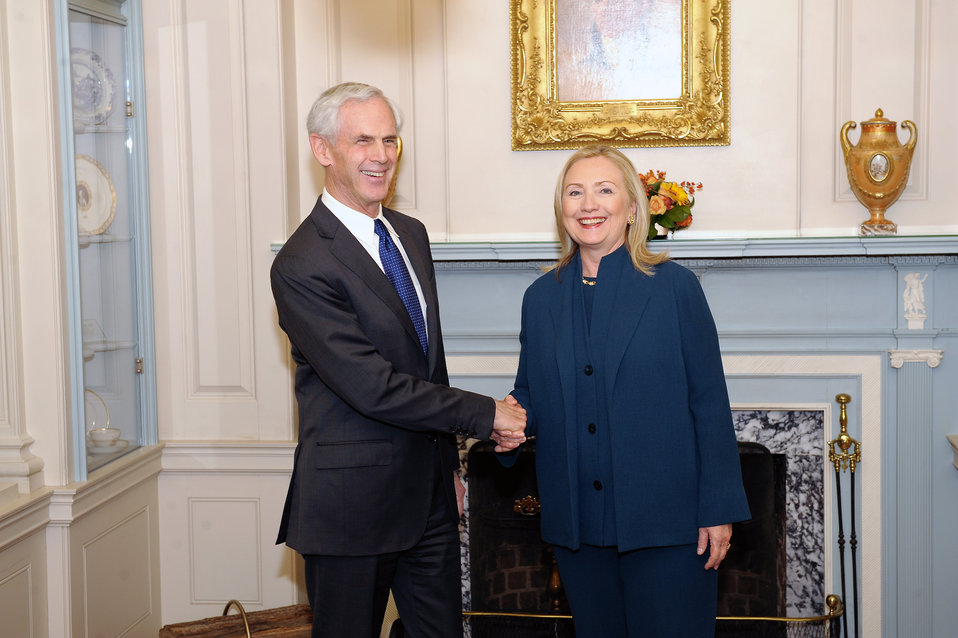 Secretary Clinton Meets With Secretary Bryson