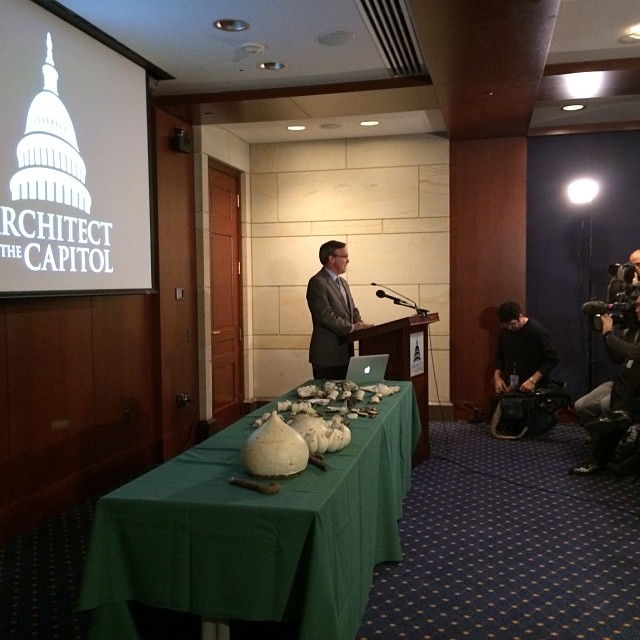 Architect of the Capitol Stephen Ayers briefs the media on #capitoldome restoration.