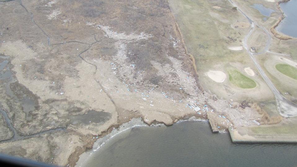 Debris at Lido Beach Wildlife Management Area