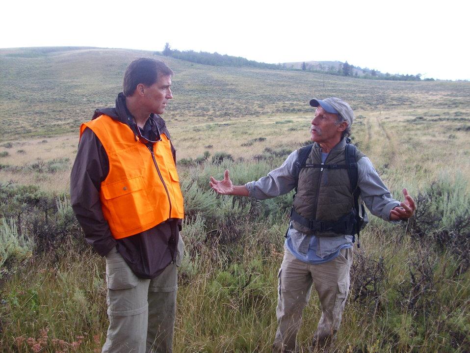Dan on the National Elk Refuge