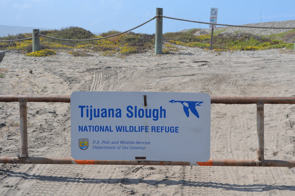 Front gate entrance to the beach and dune habitat on TJNWR