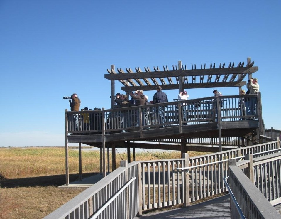 Viewing Deck at Quivira National Wildlife Refuge