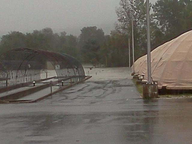 Flooding on White River National Fish Hatchery during Irene