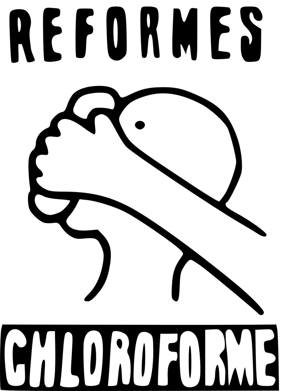 Réformes chloroforme (Reforms chloroform)